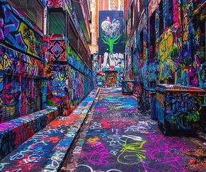 art, graffiti, and colors image