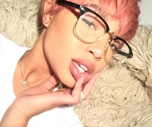 colorful hair, pixie hair, and lovely image