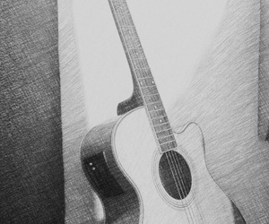 drawings, guitars, and sketches image