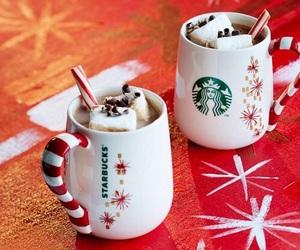 christmas, starbucks, and marshmallow image