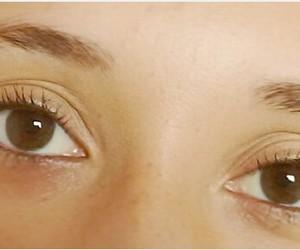 brown eyes, looking, and eyes image