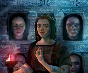 stark, game of thrones, and arya image