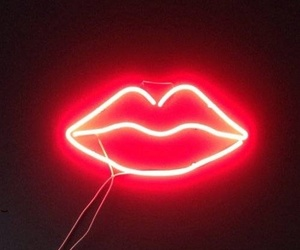 neon and lips image