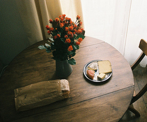 flowers, vintage, and breakfast image