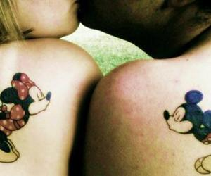 couple, mickey mouse, and love image