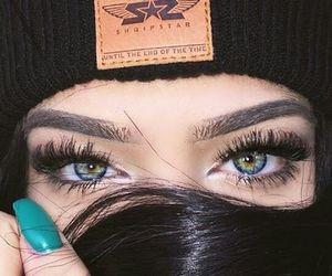 eyes, girl, and nails image