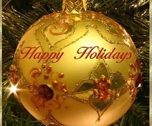 christmas, gold, and holidays image