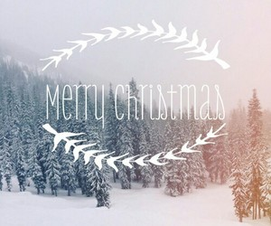 christmas, merry christmas, and snow image