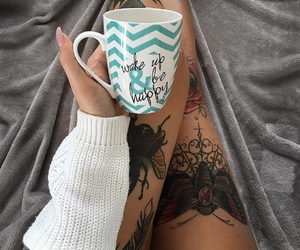 beauty, butterfly, and cup image