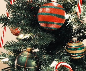 candy canes, ornaments, and xmas image