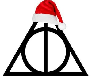 christmas, deathly hallows, and harry potter image