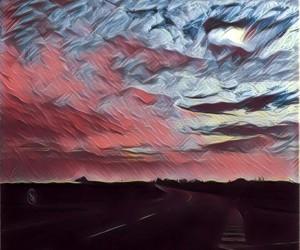 blue, horizon, and pink image