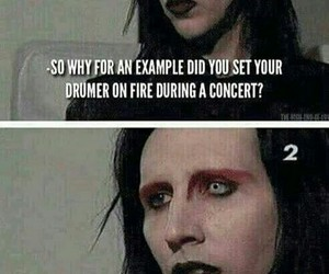 Marilyn Manson, funny, and fire image