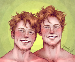 george weasley, fred weasley, and upthehillart image