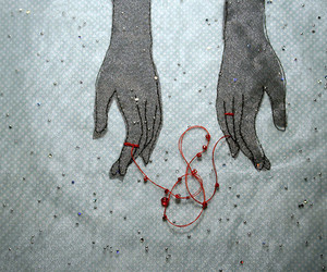 art, fate, and red string image