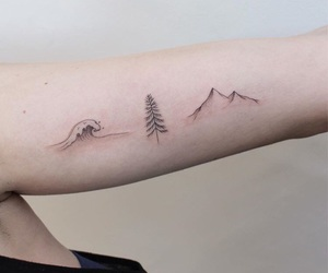 forest, ink, and mountain image