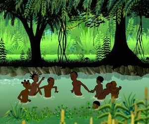 animation, kids, and west african image