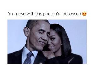 barack obama, black and white, and couple image