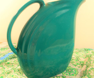 etsy, emerald green, and ice tea pitcher image