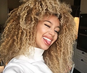 girl, curly, and smile image