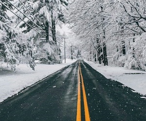 snow and road image