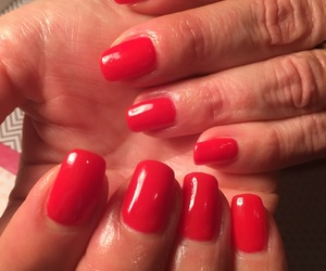 nails, red, and christmasiscoming image