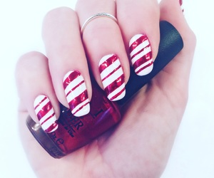 candy cane, diy, and long nails image