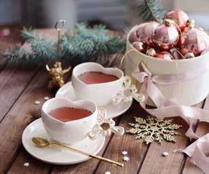christmas, tea, and winter image