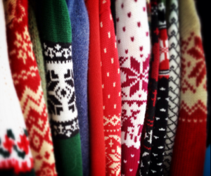 christmas, winter, and sweater image