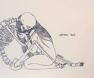 death, art, and skeleton image
