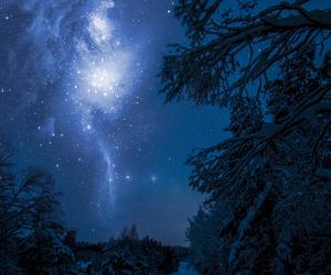 snow, night, and stars image