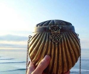 mermaid, sea, and bag image