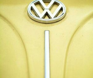 car, volkswagen, and yellow image