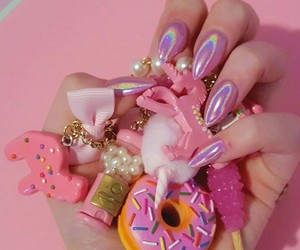 pink, unicorn, and flowers image