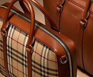 bags, Burberry, and elegance image