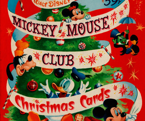 christmas, goofy, and mickey mouse image