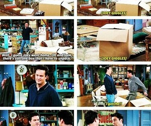 chandler bing, friends, and joey tribbiani image