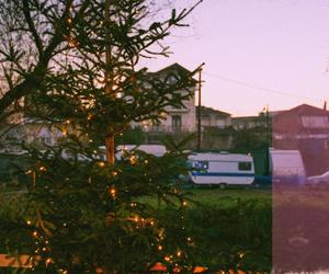 Caravan, christmas tree, and grunge image