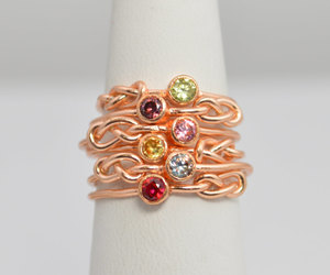 etsy, rose gold ring, and natural gemstones image
