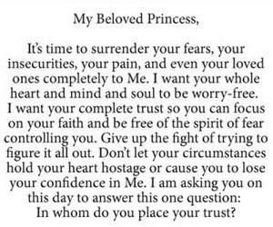 god, trust, and his beloved princess image