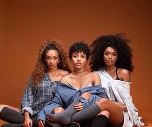 girl, black, and brown image