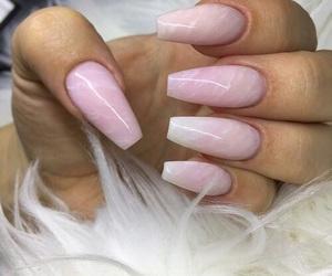 marble, nail art, and pink image