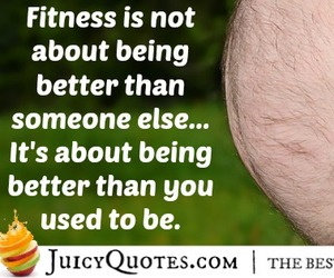 working out and fitness quote image