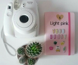pink, instax, and notebook image
