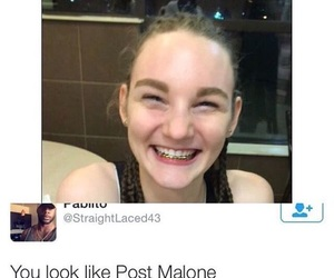 funny, tumblr, and post malone image
