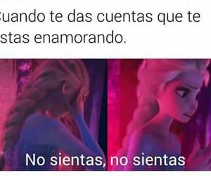 amor, frozen, and memes en español image