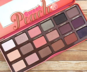beauty, makeup, and sweet peach image