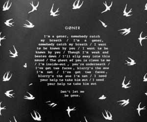 goner, twenty one pilots, and Lyrics image