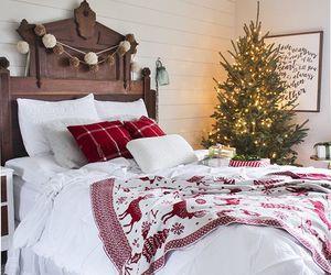 bedroom, christmas, and home image