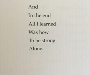 alone, end, and strength image